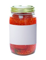 Custom mason jar and canning labels & blank templates