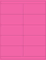 "Pink Fluorescent Labels- 4.25"" x 2"" 