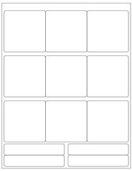 "Blank White Labels- 2.75"" x 2.75"" 