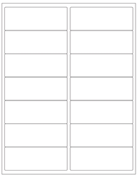 "Blank White Labels- 4"" x 1.5"" 