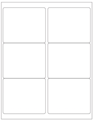 "4"" x 3.33"" Label 6-up White Paper Removable 7006-B"