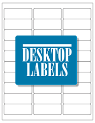 "Blank White Labels- 2.625"" x 1"" 