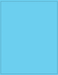 "8.5"" x 11"" Label 1-up Blue Colored Polyester Permanent Adhesive 8801BLU-B"