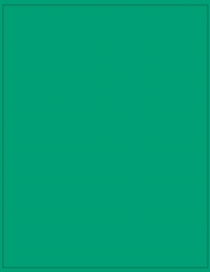 "8.5"" x 11"" Label 1-up Green Colored Polyester Permanent Adhesive 8801GRN-B"
