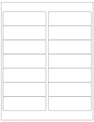 "Blank White Labels- 4"" x 1.33"" 