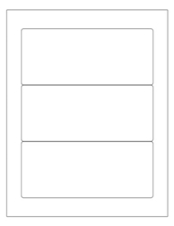"White Waterproof Labels- 7"" x 3"" 