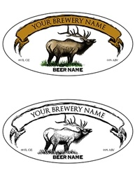 "3.9375""x1.9375"" Bottle Label Design 1017-Elk"
