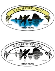 "3.9375""x1.9375"" Bottle Label Design 1036-Surfer"