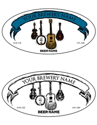 "3.9375""x1.9375"" Bottle Label Design 1055-Bluegrass"