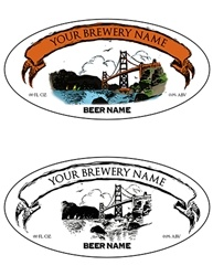 "3.9375""x1.9375"" Bottle Label Design 1067-GoldenGate"