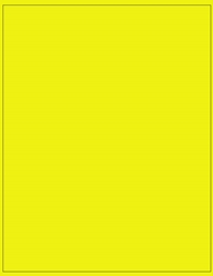 "8.5"" x 11"" Label 1-up Yellow Fluorescent Paper Permanent Adhesive 3301YEL-B"