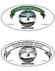 "Oval Bottle Label Design- 3.9375"" x 1.9375"" Diameter 