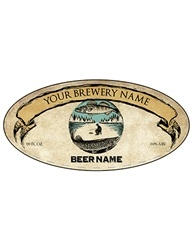 "3.9375"" x 1.9375""Oval Bottle Label- Artist Series 
