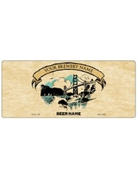 "7""x3""Rectangle Bottle Label- Artist Series 