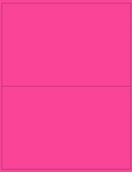 "8.5"" x 5.5"" Label 2-up Pink Fluorescent Paper Permanent Adhesive 3302PNK-B"