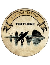 "4"" Round Custom Drink Coaster CCIR.AS.SURF"