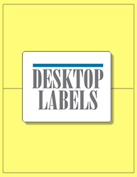 "8.5"" x 5.5"" Label 2-up Yellow Colored Polyester Permanent Adhesive 8802YEL-B"