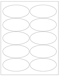"Oval Blank White Labels- 3.9375"" Diameter 
