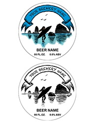 "3.9375"" Diameter, Round Bottle Label Design 