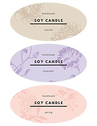 "2""x1"" Candle Label Design 1001"