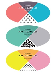 "2""x1"" Candle Label Design 1003"