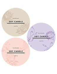 "3.33"" Candle Label Design 1004"
