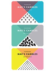 "3.375""x2.3125"" Candle Label Design 1009"