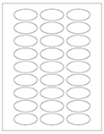 "2"" x 1"" Oval Labels - Blank and Custom"