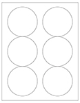 "3.33"" Diameter Round Labels - Blank and Custom"