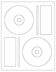 "4.6406"" Diameter CD/DVD Labels"