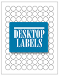 "Round Blank White Labels- 0.75"" Diameter 