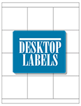 "Blank White Labels- 2.833"" x 2.5"" 