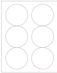 "Round White Glossy Labels- 3.33"" Diameter 