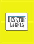 "Yellow Fluorescent Labels- 8.5"" x 5.5"" 