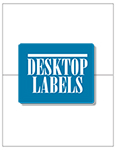 "Removable White Labels- 8.5"" x 5"" 