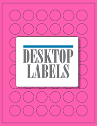 "1"" x 1"" Label 48-up Pink Fluorescent Paper Permanent Adhesive 331CRPNK-B"