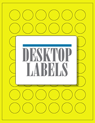 "1"" x 1"" Label 48-up Yellow Fluorescent Paper Permanent Adhesive 331CRYEL-B"