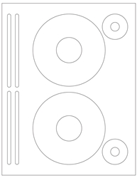 "DVD Blank White Labels- 4.625"" Diameter 