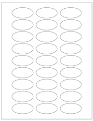 "Oval Blank White Labels- 2"" Diameter 
