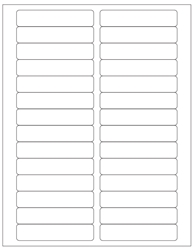 "Blank White Labels- 3.5"" x 0.75"" 