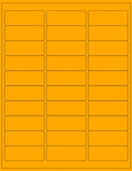 "Orange Fluorescent Labels- 2.625"" x 1"" 