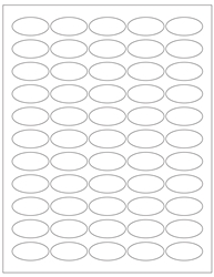 "Oval Blank White Labels- 1.5"" Diameter 