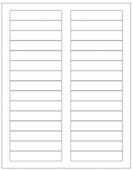 "Removable White Labels- 3.4375"" x 0.66"" 