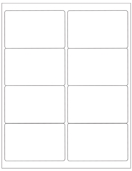 "Blank White Labels- 4"" x 2.5"" 