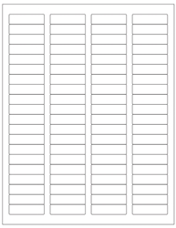 "Removable White Labels- 1.75"" x 0.5"" 