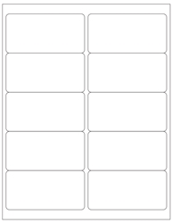 "Blank White Labels- 4"" x 2"" 