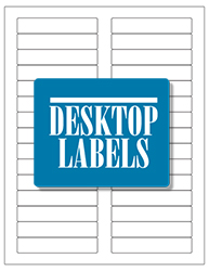 "Blank White Labels- 3.4375"" x 0.66"" 