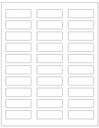 "Blank White Labels- 2.25"" x 0.75"" 