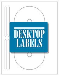 Desktop Labels 3302-DVD Template