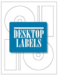 Desktop Labels 3102-DVD Template